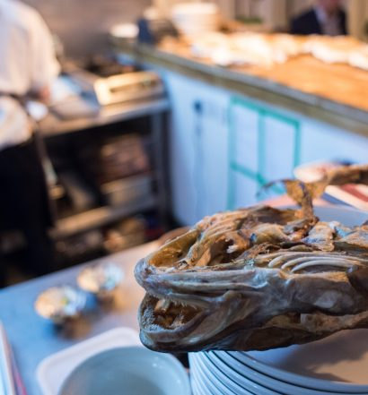 Fish discards used at wastED - pop-up food waste restaurant on Selfridge's rooftop
