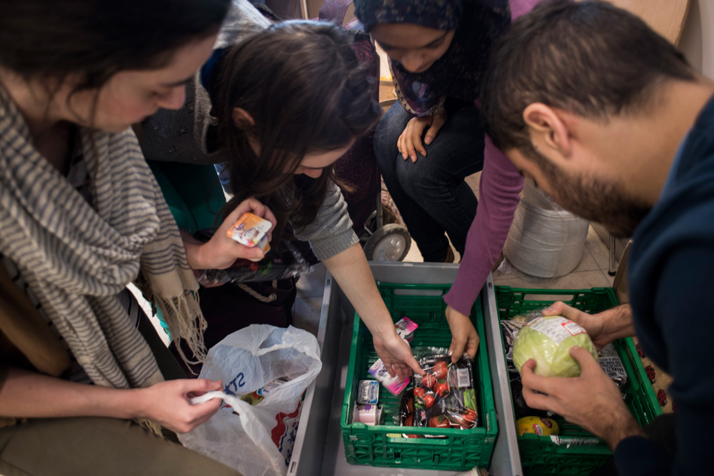 LSE FoodCycle Hub visit local Waitrose to gather food tht would otherwise go to waste